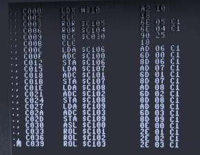 6502 assembler (multiplication algorithm)