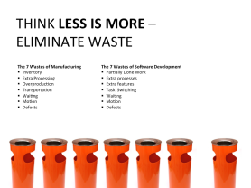 Lean Software Development -- Think Less is More -- Eliminate Waste