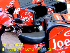 Lean Software Development -- Think Pizza -- Deliver as fast as possible