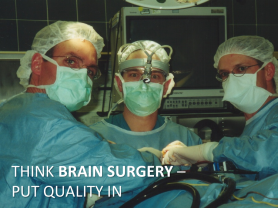 Lean Software Development -- Think Brain Surgery -- Build Quality In