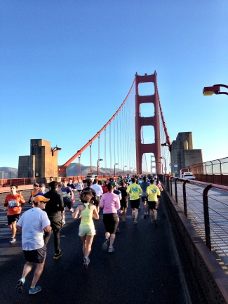 San Francisco Marathon 2013 -- Crossing the Golden Gate Bridge